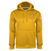 Under Armour Gold Performance Sweats Team Hoodie-Stacked Valpo Shield
