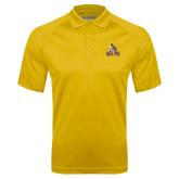 Gold Textured Saddle Shoulder Polo-Official Logo