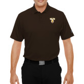 Under Armour Brown Performance Polo-Stacked Valpo Shield