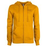 ENZA Ladies Gold Fleece Full Zip Hoodie-School of Psychology Vertical