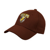 Brown Heavyweight Twill Pro Style Hat-Stacked Valpo Shield
