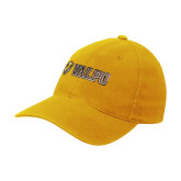 Gold Flexfit Mid Profile Hat-Flat Valpo Shield