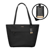 Tumi Voyageur Black M Tote-Flat Valpo Shield Engraved