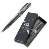 Cutter & Buck Brogue Ballpoint Pen w/Blue Ink-Flat Valpo Shield Engraved