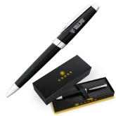 Cross Aventura Onyx Black Ballpoint Pen-Flat Valpo Shield Engraved