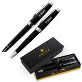Cross Aventura Onyx Black Pen Set-Flat Valpo Shield Engraved