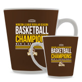 Full Color Latte Mug 12oz-2017 Mens Basketball Champions Stacked