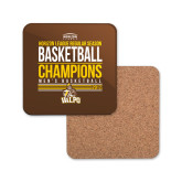Hardboard Coaster w/Cork Backing-2017 Mens Basketball Champions Stacked