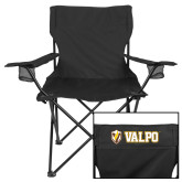 Deluxe Black Captains Chair-Flat Valpo Shield