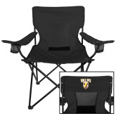 Deluxe Black Captains Chair-Stacked Valpo Shield