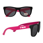 Black/Hot Pink Sunglasses-Flat Valpo Shield