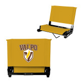Stadium Chair Gold-Stacked Valpo Shield