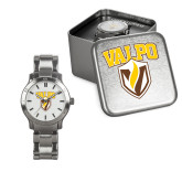Ladies Stainless Steel Fashion Watch-Stacked Valpo Shield