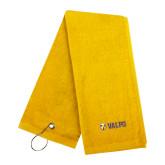 Gold Golf Towel-Flat Valpo Shield