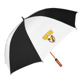 62 Inch Black/White Umbrella-Stacked Valpo Shield