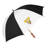 62 Inch Black/White Umbrella-Stacked Valpo Shield