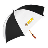62 Inch Black/White Umbrella-Flat Valpo Shield
