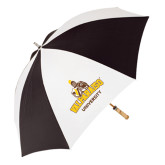 62 Inch Black/White Umbrella-Valparaiso University