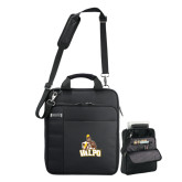 Kenneth Cole Black Vertical Checkpoint Friendly Messenger-Official Logo