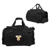 Challenger Team Black Sport Bag-Stacked Valpo Shield