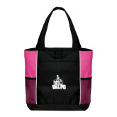 Black/Tropical Pink Panel Tote-Official Logo