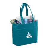 Fine Society Teal Computer Tote-Official Logo