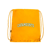 Gold Drawstring Backpack-Arched Catamounts
