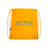 Gold Drawstring Backpack-Arched Vermont Catamounts