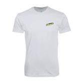 SoftStyle White T Shirt-Slanted Vermont Catamounts