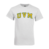 White T Shirt-Arched UVM