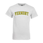 White T Shirt-Arched Vermont