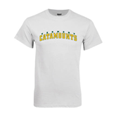 White T Shirt-Arched Vermont Catamounts