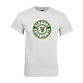 White T Shirt-Vermont Catamounts Circle