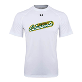 Under Armour White Tech Tee-Slanted Vermont Catamounts