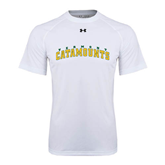 Under Armour White Tech Tee-Arched Vermont Catamounts