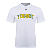 Under Armour White Tech Tee-Arched Vermont