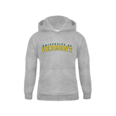 Youth Grey Fleece Hood-Arched University of Vermont