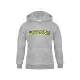 Youth Grey Fleece Hood-Arched Vermont
