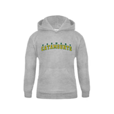 Youth Grey Fleece Hood-Arched Vermont Catamounts