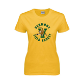 Ladies Gold T Shirt-Field Hockey