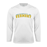 Syntrel Performance White Longsleeve Shirt-Arched University of Vermont