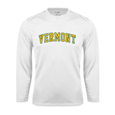 Syntrel Performance White Longsleeve Shirt-Arched Vermont