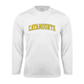 Syntrel Performance White Longsleeve Shirt-Arched Catamounts