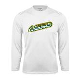 Syntrel Performance White Longsleeve Shirt-Slanted Vermont Catamounts