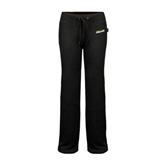 ENZA Ladies Black Fleece Pant-Slanted Vermont Catamounts