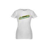 Youth Girls White Fashion Fit T Shirt-Slanted Vermont Catamounts