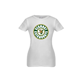 Youth Girls White Fashion Fit T Shirt-Vermont Catamounts Circle