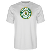 Syntrel Performance White Tee-Vermont Catamounts Circle