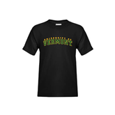 Youth Black T Shirt-Arched University of Vermont