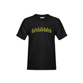 Youth Black T Shirt-Arched Vermont Catamounts